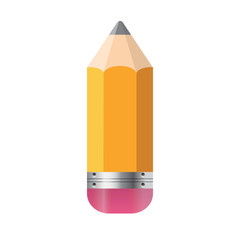 Pencil Isolated on White Background Vector Illustration
