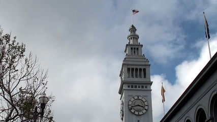 Clock Tower of Ferry Building. San Francisco