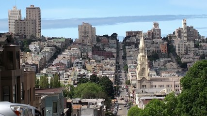 View of San Francisco from Telegraph Hill. California, USA.