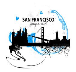 Kunstwerke Skyline von San Francisco
