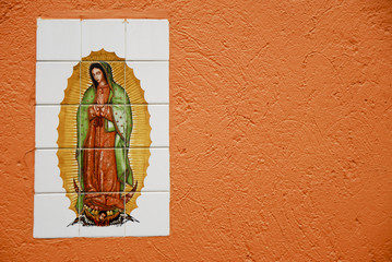 mosaic of Our Lady of Guadalupe,Coyoacan,Mexico city
