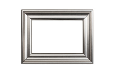 Silver frame isolated on white background with clipping path