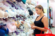 woman buying a bra