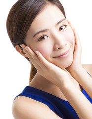 close up of asian beauty woman