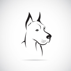 Vector image of an dog (Great Dane)