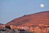 Moon over Wadi Musa, Jordan poster