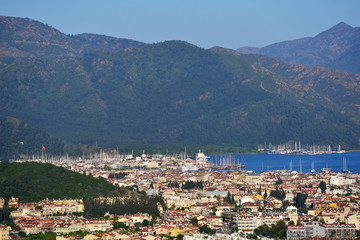 Aerial view to Marmaris, Turkey