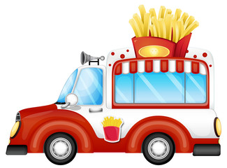A vehicle selling fries