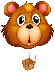 A brown bear balloon