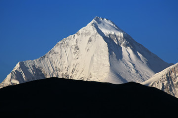 Dhaulagiri peak (8167 m) at sunrise.