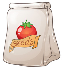 A pouch of tomato seeds