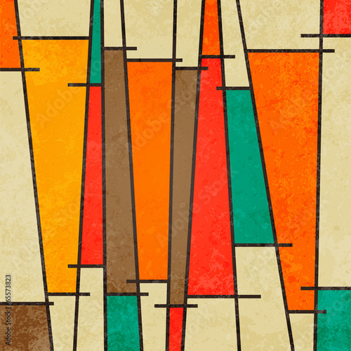Abstract geometric retro colourful background © JMC