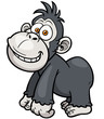 Vector illustration of Gorilla Cartoon