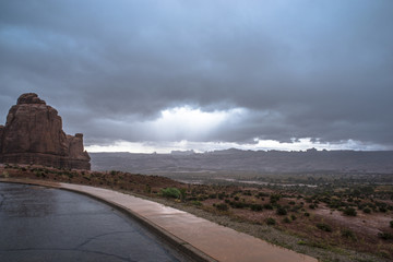 Rainstorm in the Arches National Park