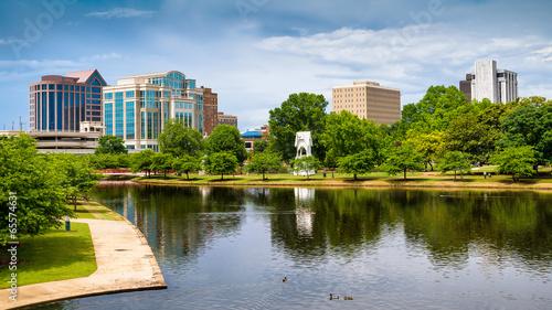 Pejzaż miejski scena w centrum Huntsville, Alabama