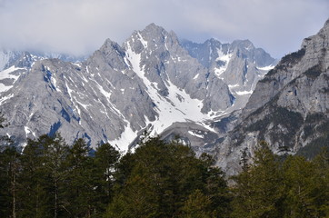 The Peak of Alpine Mountains