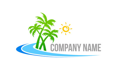 beach-with-coconout-tree-logo