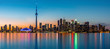 Toronto panorama at dusk