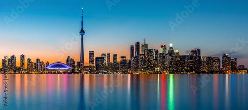 Fotobehang Canada Toronto panorama at dusk