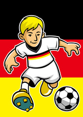Germany soccer player with flag background