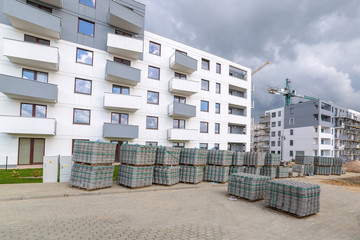New residential area in construction, Poland