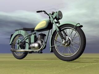 Vintage motorbike - 3D render