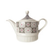 Porcelain teapot isolated over white