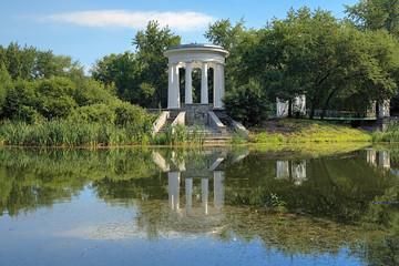 Rotunda in Kharitonov garden of Yekaterinburg, Russia