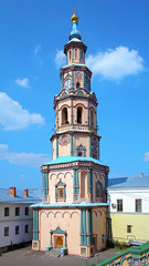 Belfry of saints Peter and Paul Cathedral in Kazan, Russia