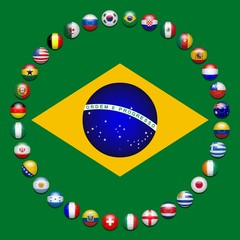 Brazil. Football. World Cup. 32 teams