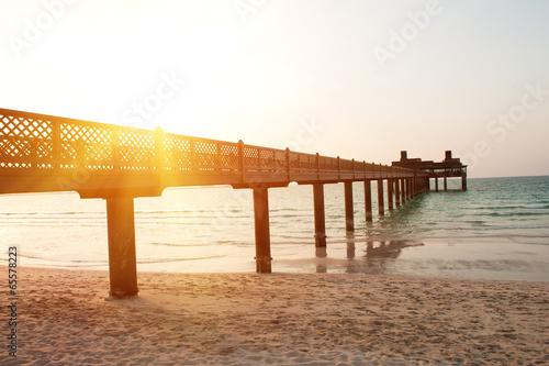 Plexiglas Dubai Pier in Dubai