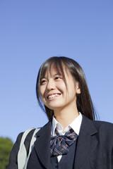 女子高校生の笑顔