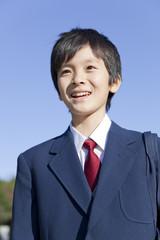 男子中学生の笑顔