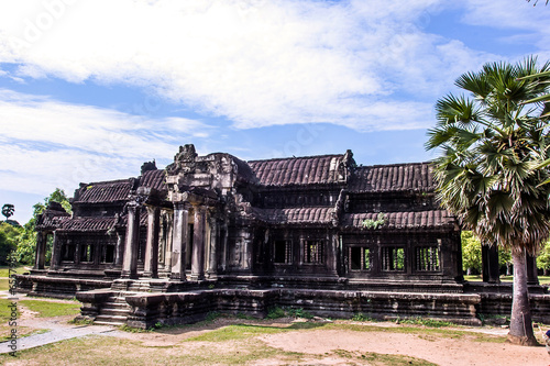 The ancient temple of Angkor Wat near Siem Reap, Cambodia. Poster