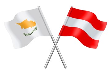 Flags : Cyprus and Austria