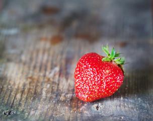 One ripe juicy strawberries