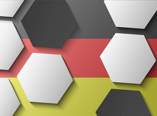 Illustration of Germany flag with soccer items