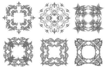 Decorative finishing ceramic tiles. Vector illustration