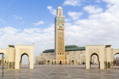 Tuinposter Marokko The Hassan II Mosque