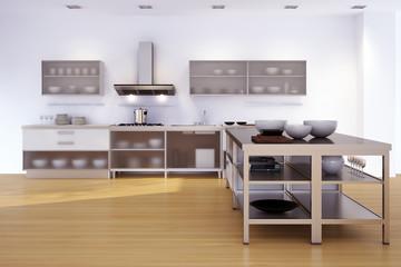 Küche in einfamilienhaus - minimalistic kitchen