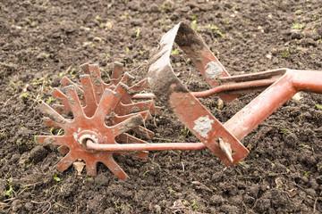 Old garden cultivator