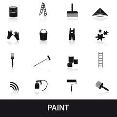 paint icons set eps10