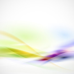 Abstract smooth colorful flow on white background, Vector