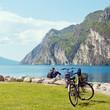 canvas print picture - Urlaub am Gardasee