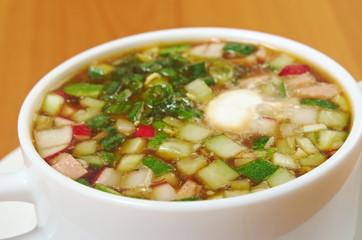 cold soup, okroshka