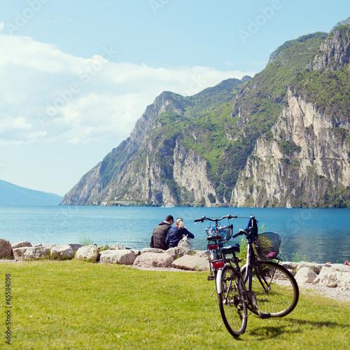 canvas print picture Urlaub am Gardasee
