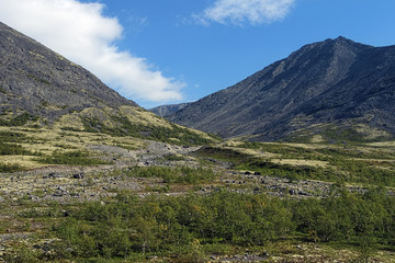 Valley along the Pachvumchorr range in Khibiny Mountains