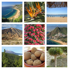 images of fantastic Tenerife island - collage