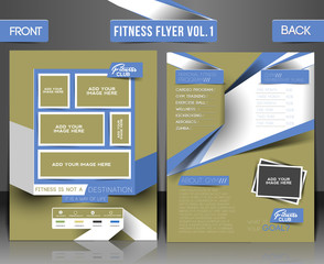 Fitness Center Front & Back Flyer & Poster Template