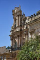 Italy, Sicily, Scicli, St. John Cathedral baroque facade